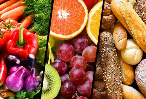rau trái cây ngũ cốc triptych